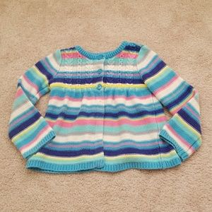 The Children's Place 4T Rainbow Striped Sweater